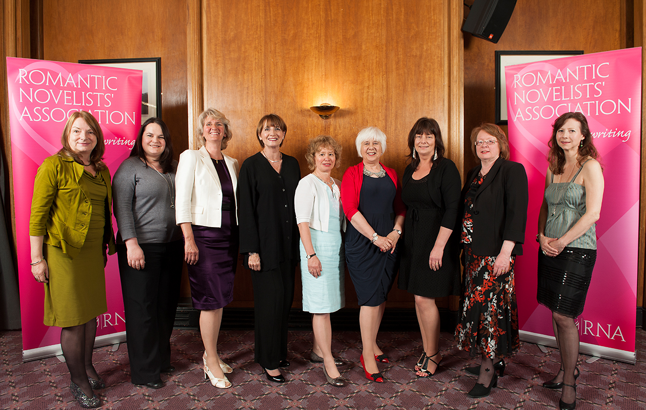 The Joan Hessayon nominees - winner Liesel Schwarz is second from left, I'm third from right.