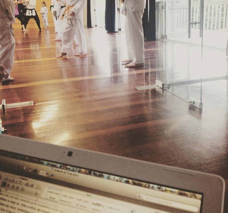 *Writing at Tae Kwon Do